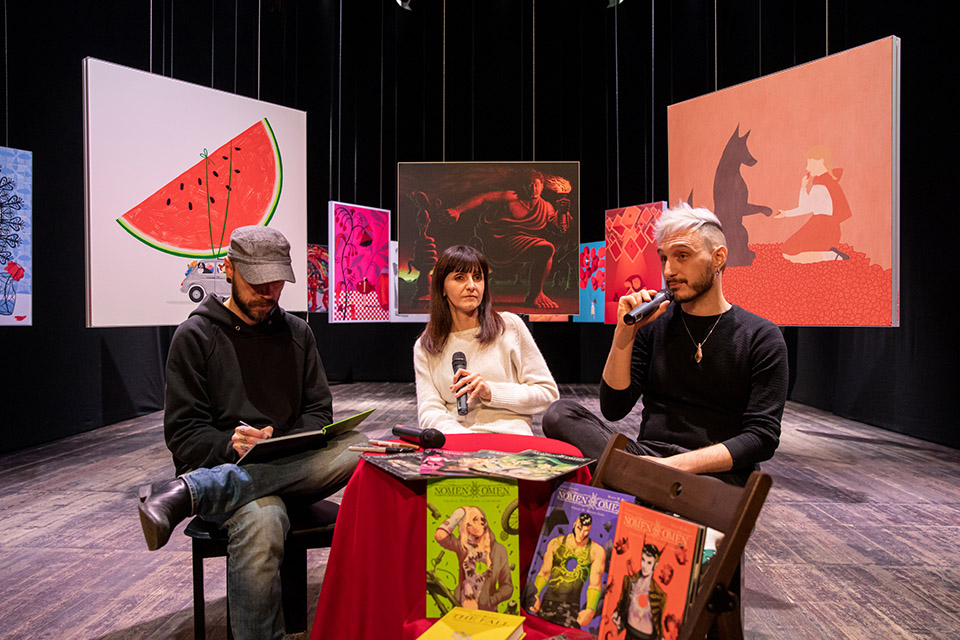Premio Renner, incontro con Jacopo Camagni e Marco B Bucci, autori della serie a fumetti Nomen Omen